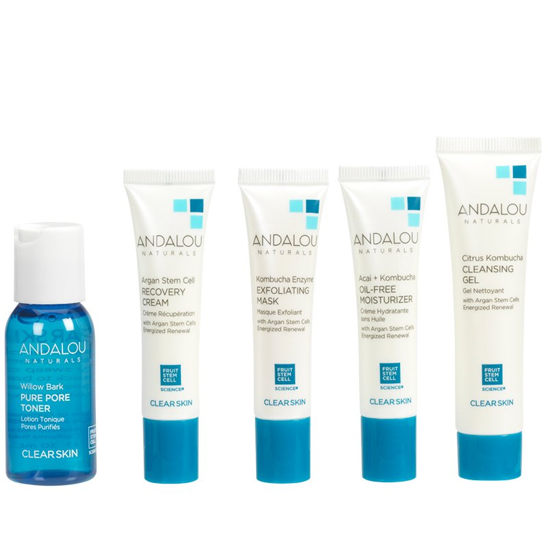 Andalou Naturals Clear Skin Get Started Kit - 5 piece