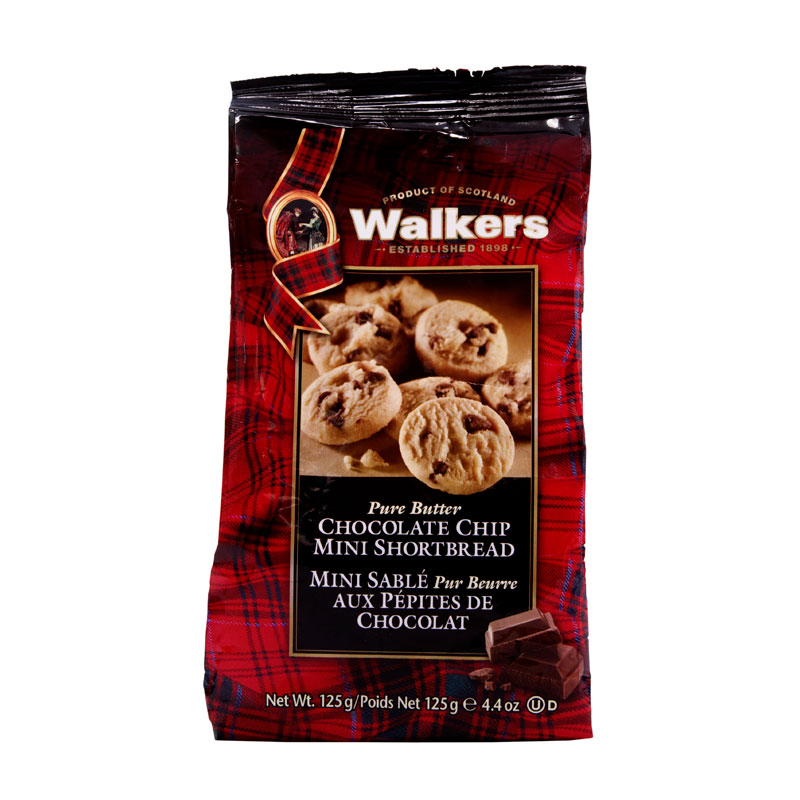 Walkers Mini Chocolate Chip Shortbread Bag - 125g