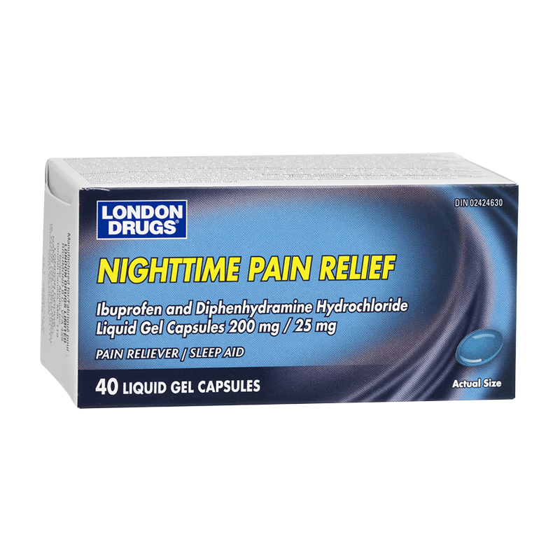 London Drugs Nighttime Pain Relief Ibuprofen - 200mg - 40's