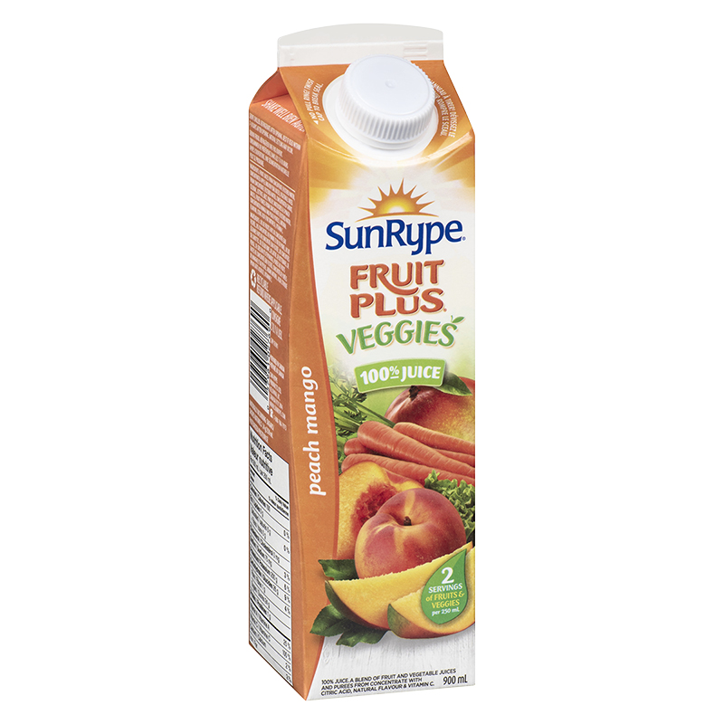 SunRype Fruit Plus Juice - Peach Mango - 900ml