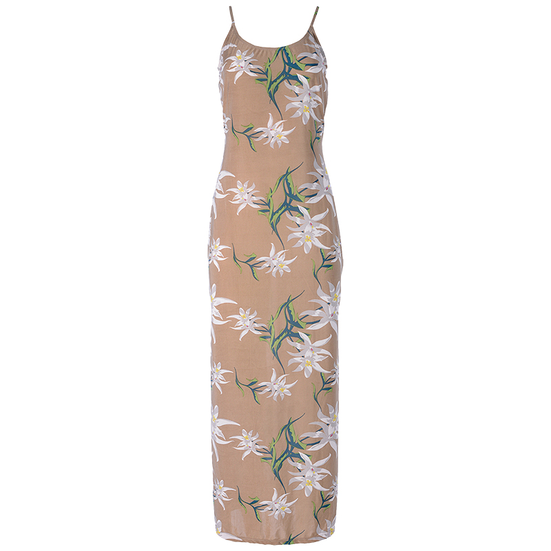 Lava Spaghetti Strap Dress - Khaki