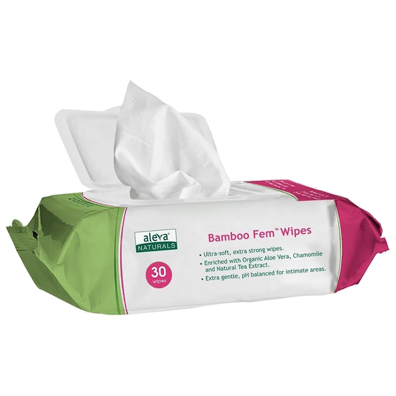 Bamboo Fem Wipes - 30's