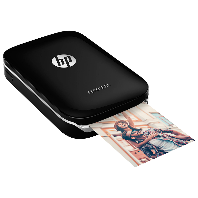 HP Sprocket Portable ZINK Photo Printer - Black - X7N08A