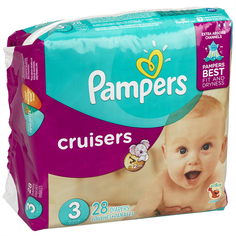 Pampers Cruisers Diapers - Size 3 - 28's