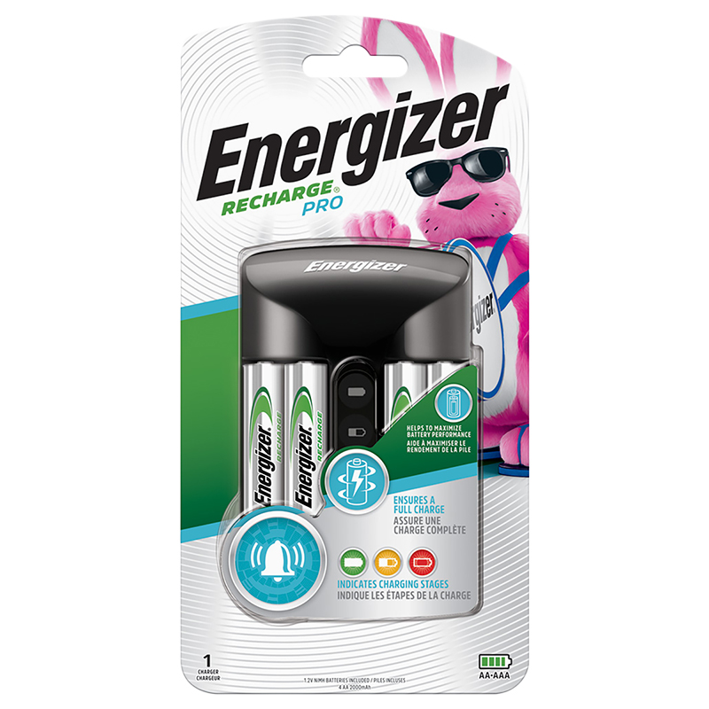Energizer NiMH Pro Charger with 4AA - CHPROWB4