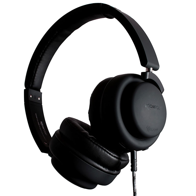 Boompods Hush Active Noise Cancelling Headphones - Black - BPHUSBLK