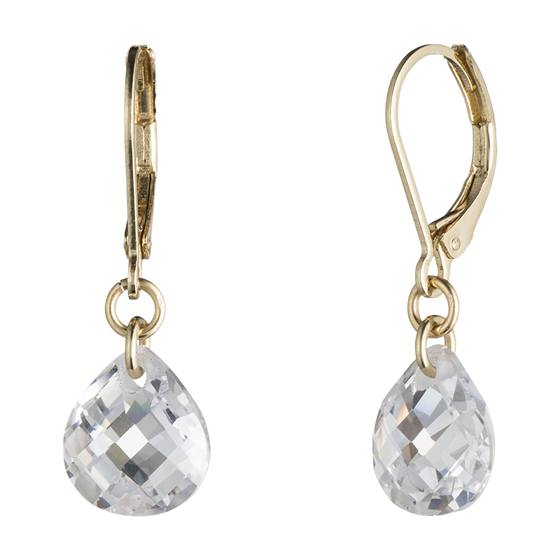 Lonna & Lilly Small Diamond Drop Earrings - Gold