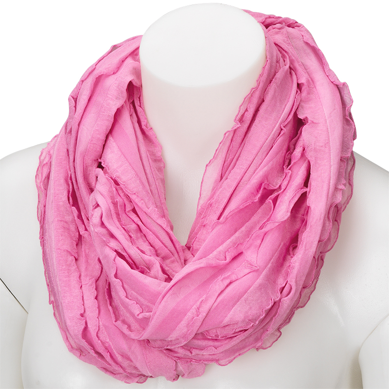 In Style Infinity Scarf - Ruffle - Assorted