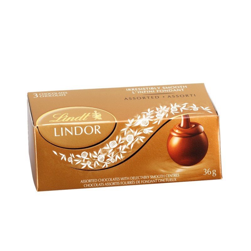 Lindt Lindor 3 Pack - Assorted Chocolates - 36g
