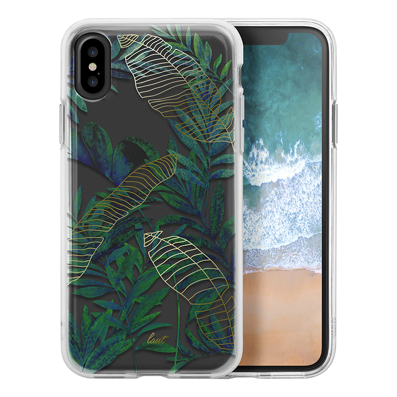 LAUT POP Crystal Case for iPhone X - Tropics - LAUTIP8POPTP