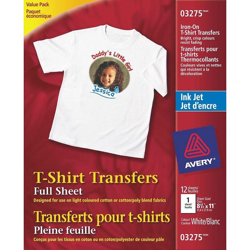1d810744e Avery T-Shirt Transfers - White - 12's - 3275 | London Drugs
