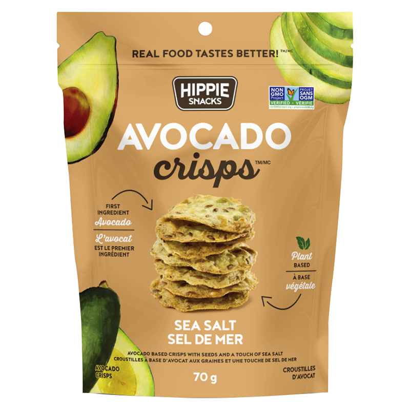 Hippie Snacks Avocado Crisps - Sea Salt - 70G