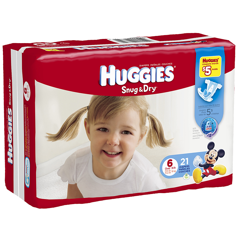 Huggies Snug & Dry Diapers - Size 6 - 21's