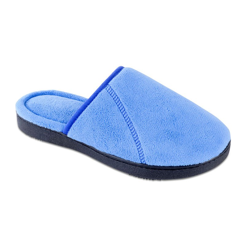 Isotoner Women's Microterry Clog Slipper with Trim