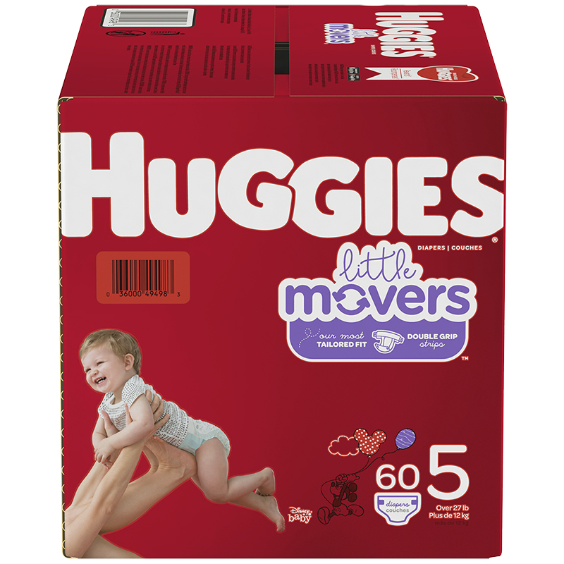 Huggies Little Movers Diaper - Size 5 - 60's