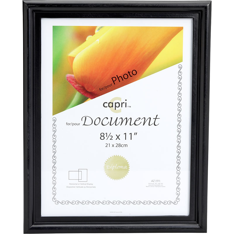 KG Embassy 8.5x11 Document Frame - Black | London Drugs