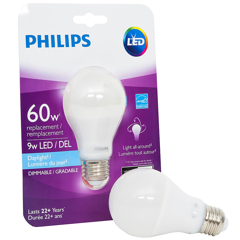 Philips Real LED Bulb A19 - Daylight - 11w=60w
