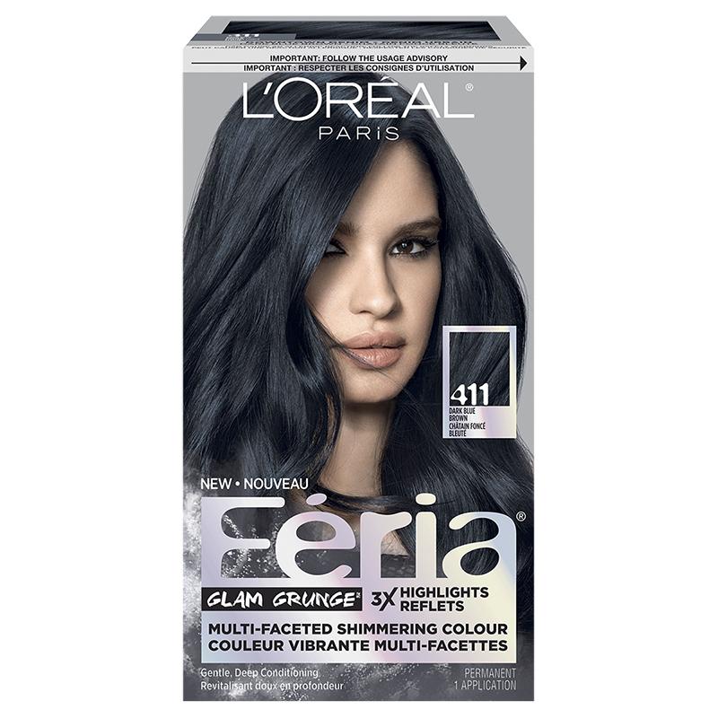 Loreal Feria Hair Colour 411 Dark Blue Brown London Drugs