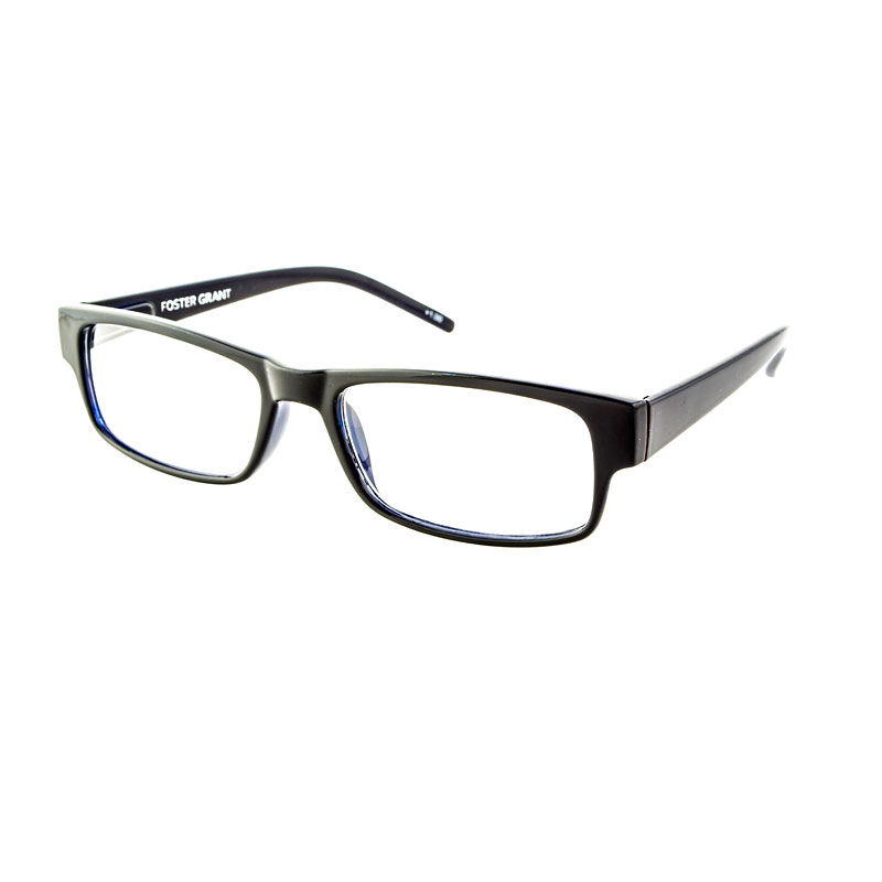 Foster Grant Sloan Reading Glasses with Case - Black/Blue - 1.25