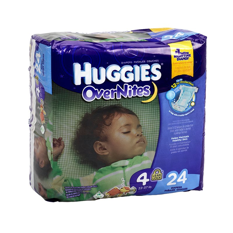 Huggies Overnites Disposable Diaper - Size 4 - 24's