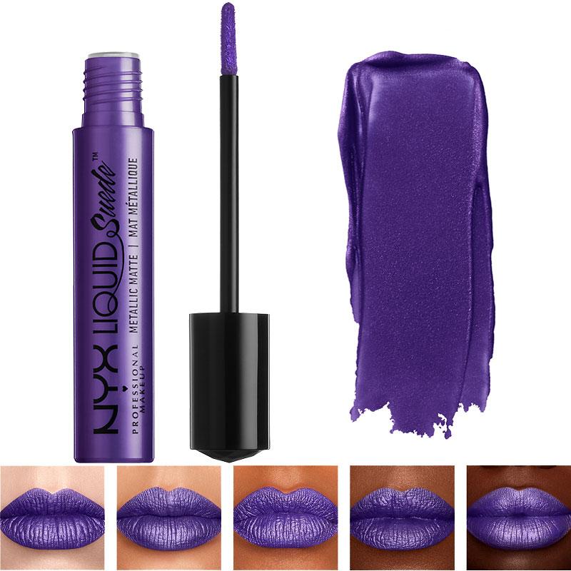Nyx Professional Makeup Liquid Suede Metallic Matte Lipstick Ego