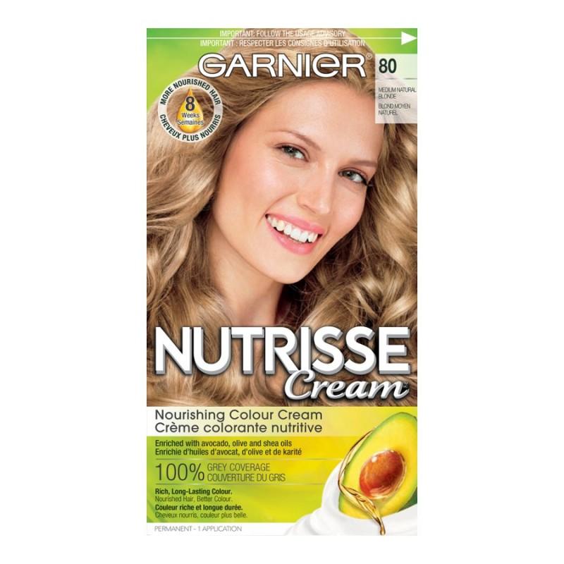 Garnier Nutrisse Cream Permanent Hair Colour 80 Medium Natural