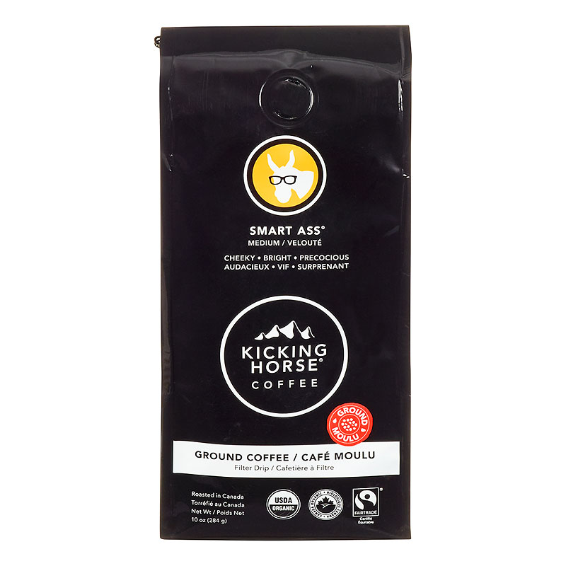 Kicking Horse Coffee Smart Ass - Medium Roast - Ground - 284g
