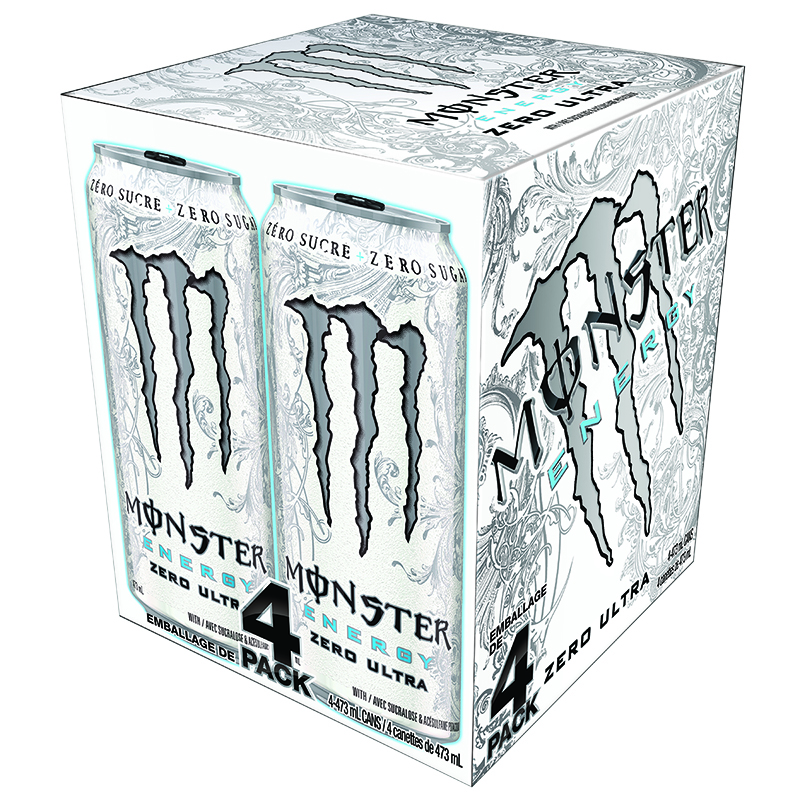 Monster Energy Drink - Ultra Zero - 4 x 473ml