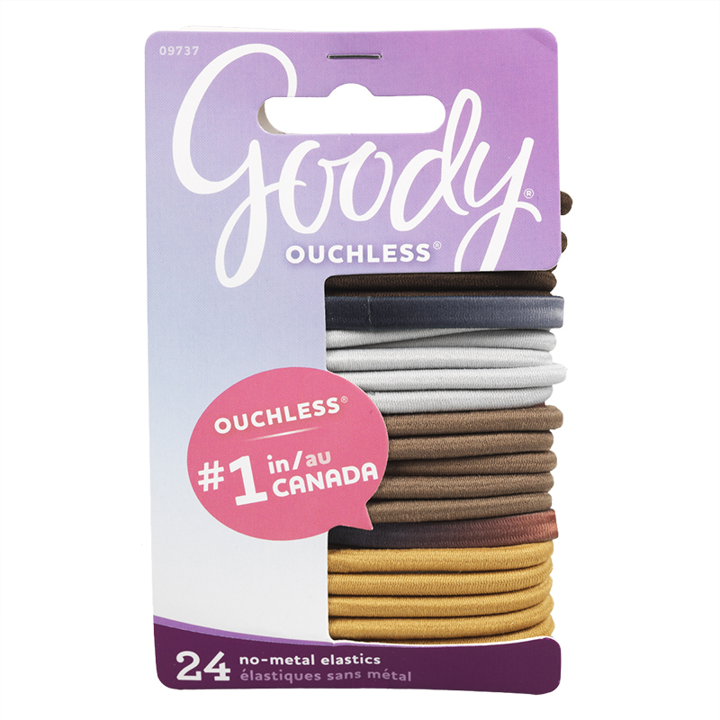 Goody Ouchless Elastics Neutral - 9737 - 24's