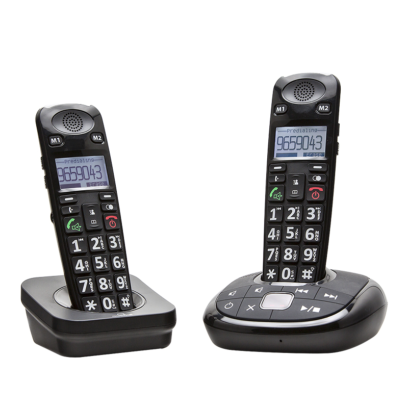 ClearSounds A700 DECT 6.0 Amplified 2-Handset Cordless Phone - Black - A700BUN