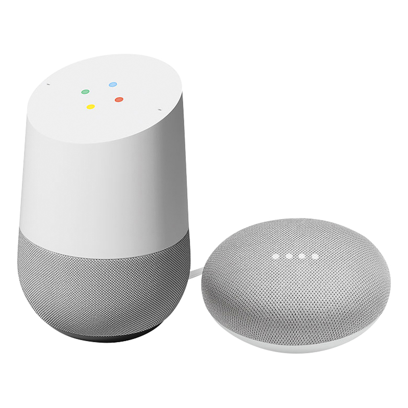 Google Home Voice Activated Speaker Assistant with Google Home Mini - Chalk - PKG #13747