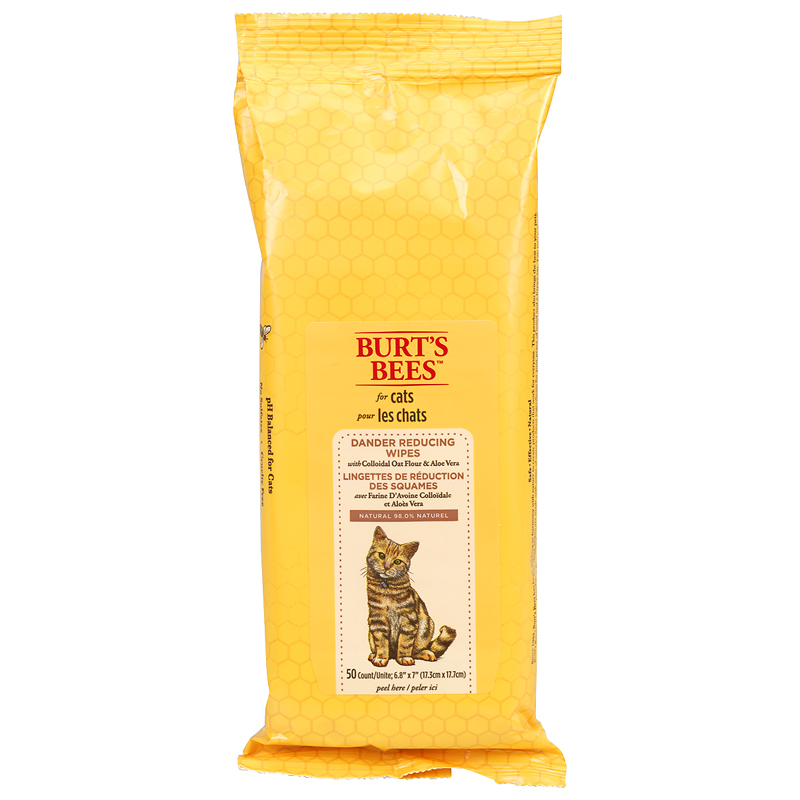 Burt's Bees Dander Wipes for Cats - 50's