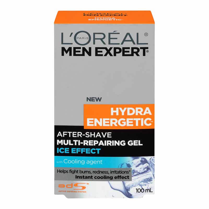 L'Oreal Men Expert Hydra Energetic After-Shave Multi-Repairing Ice Effect Gel - 100ml