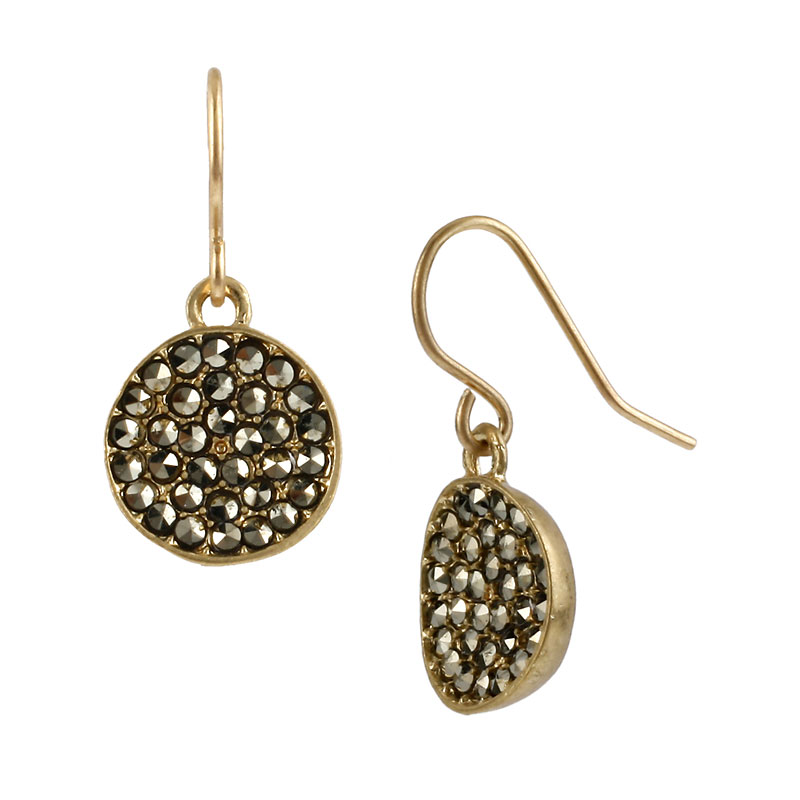Kenneth Cole Crystal Drop Earrings - Gold Tone