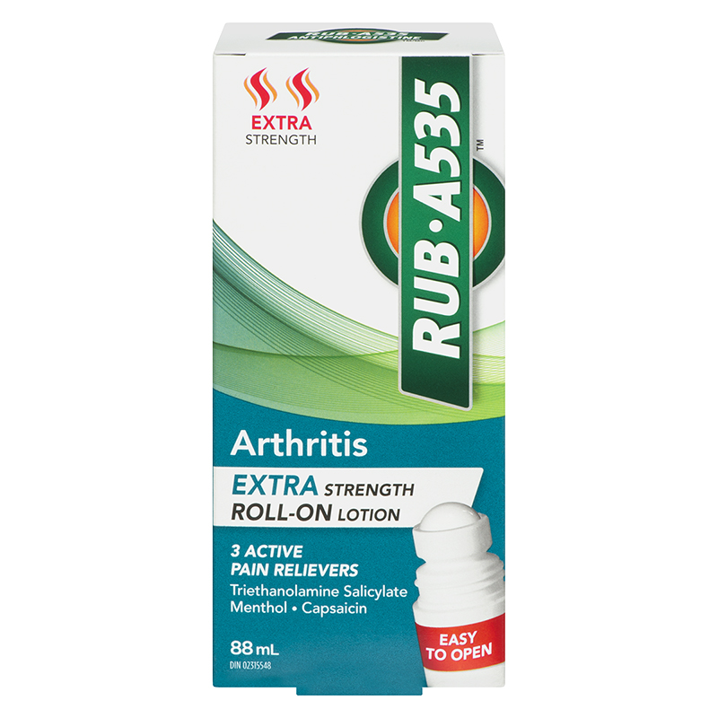 RUB A535 Arthritis Roll-On Lotion - Extra Strength - 88ml