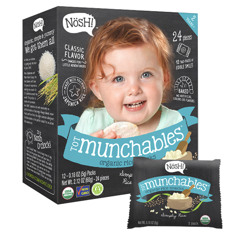 Nosh Tot Munchables - Simply Rice  - 60g/24 Wafers