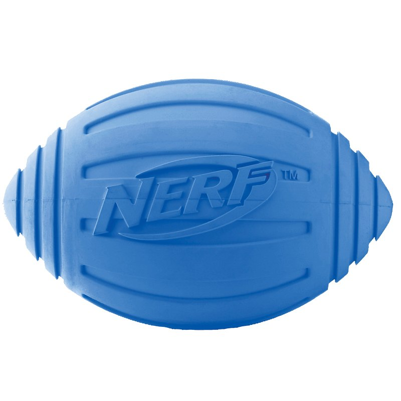 Nerf Dog Ridged Football - Blue