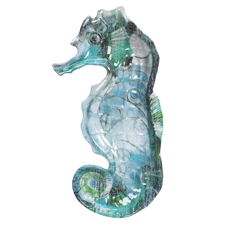 London Drugs  Melamine Plate - Seahorse - 11in