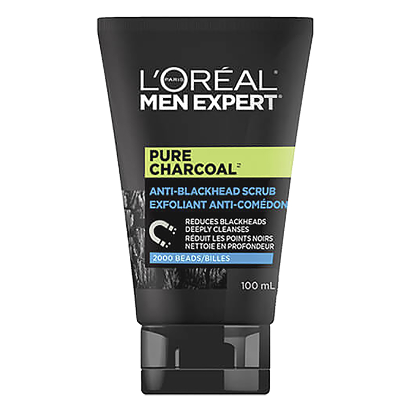 L'Oreal Men Expert Pure Charcoal Anti-Blackhead Scrub - 100ml
