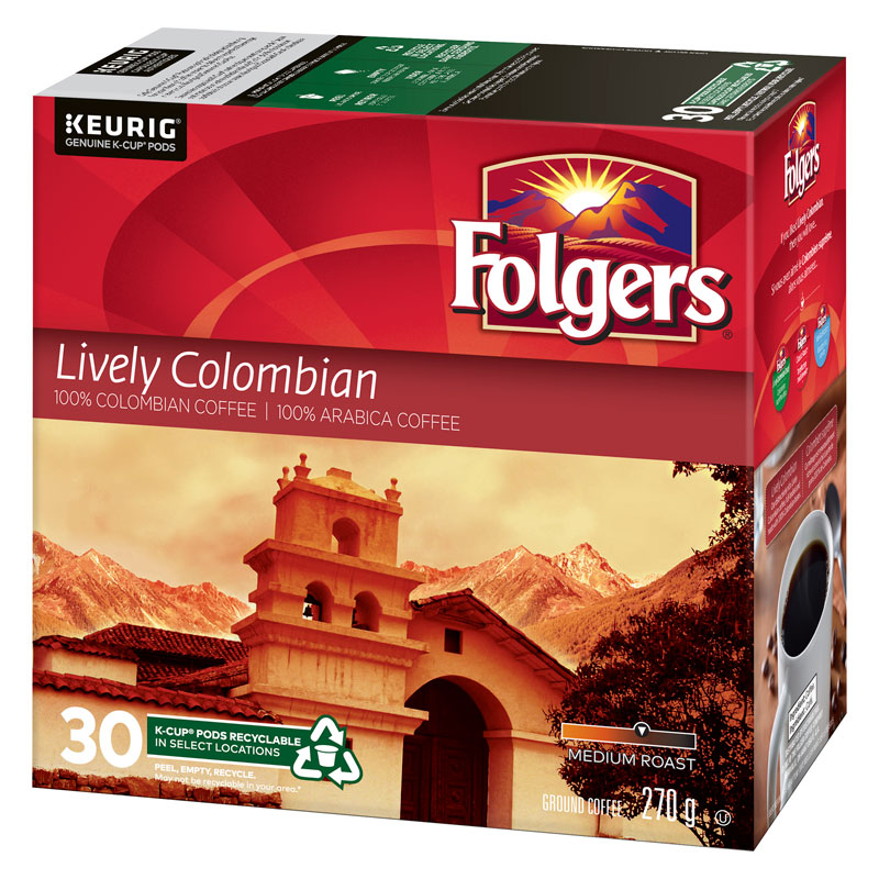 Folgers K-Cup Coffee - Colombian - 30 servings