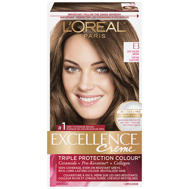 Loreal Excellence Creme E3 Light Golden Brown London Drugs