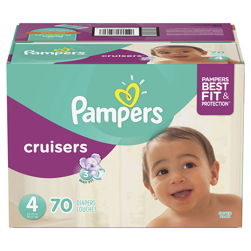 Pampers Cruisers Diapers - Size 4 - 70's