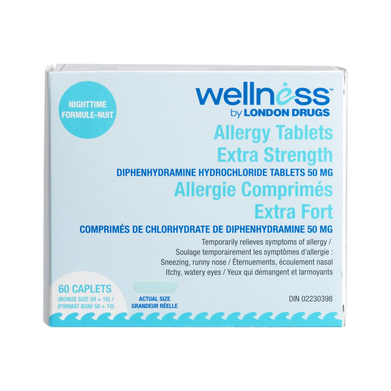 London Drugs Allergy Tablets Nighttime - Extra Strength - 50mg - 60's