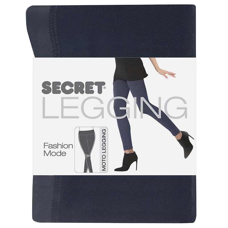 Secret Motto Pattern Leggings - Black - A/B