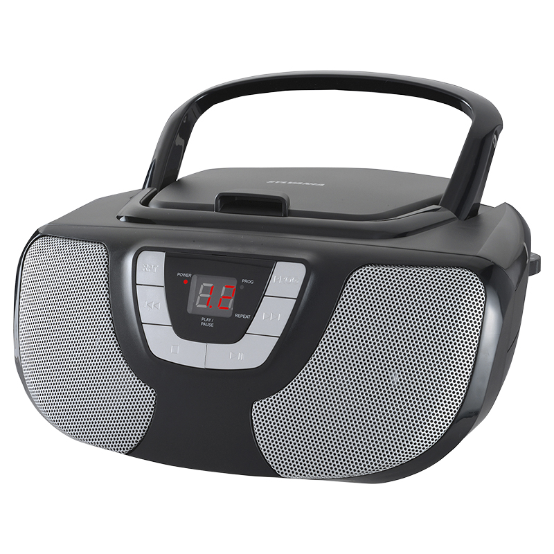 Sylvania CD Radio Boombox - Black - SRCD1025
