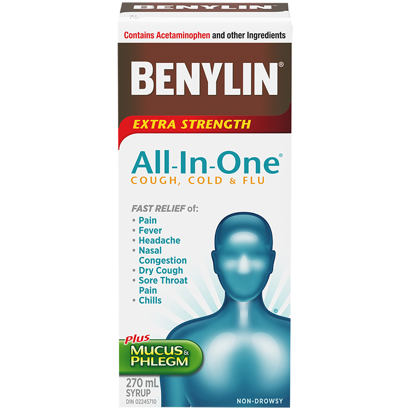 Benylin All-in-One Cold and Flu Syrup - 270ml