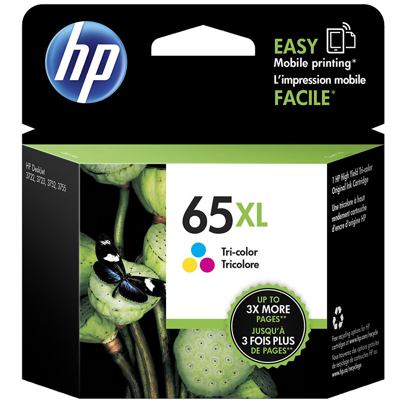 HP 65XL Original Ink Cartridge - Tri-Colour - N9K03AN#140