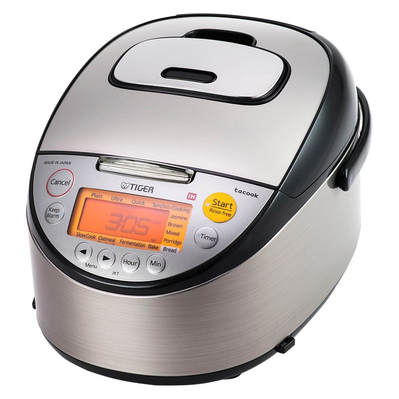 Tiger Rice Cooker - Stainless - 5.5 Cups - JKT-S10U