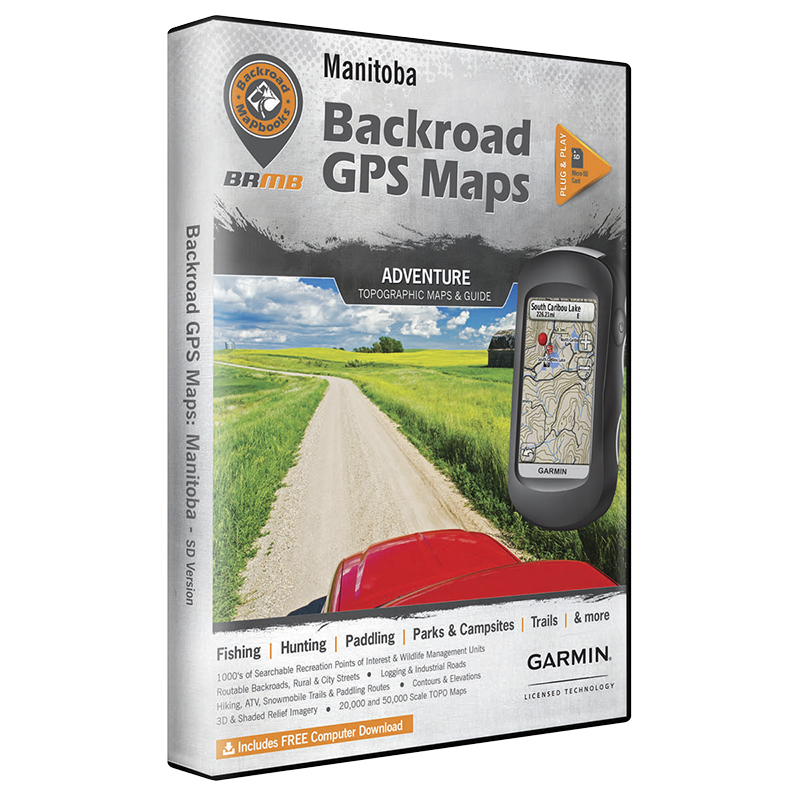 Backroad GPS Maps - Manitoba - 02348