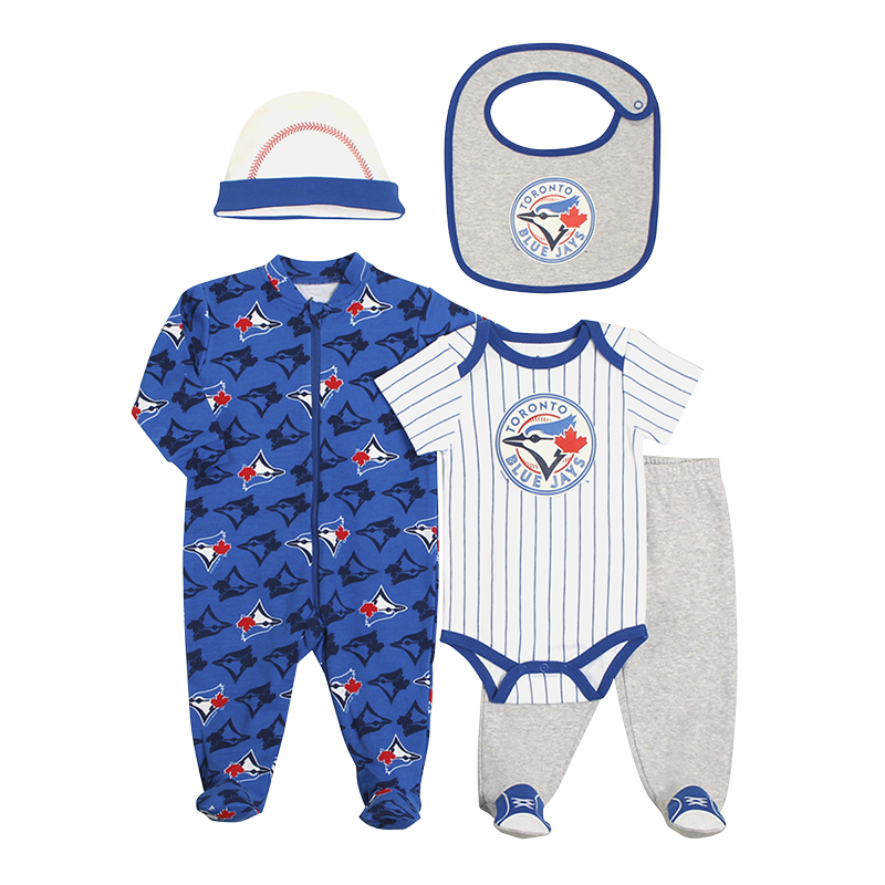 Toronto Blue Jays 5-Piece Layette Set - Boys - Newborn